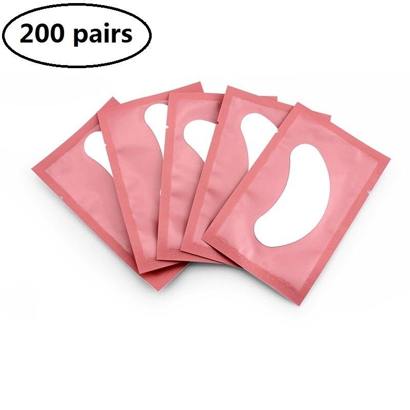 200 pairs kirpik uzatma malzemeleri kağıt yamalar aşılı göz çıkartmalar altında göz pedleri göz İpuçları Sticker kirpik göz yama