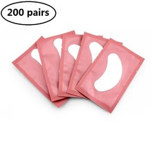 200 pares de extensão de cílios suprimentos remendos de papel enxertado olho adesivos sob almofadas de olho dicas de olho adesivo lash eyepatch