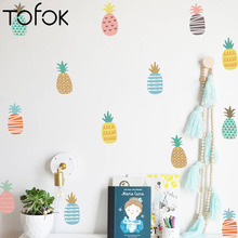 Decals Background Wallpaper Decoration Wall-Stickers Bedroom Wind Tofok Creative 24pcs