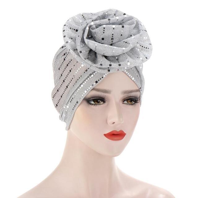 Купить шапка бини женская с блестками модный яркий цветочный головной картинки цена