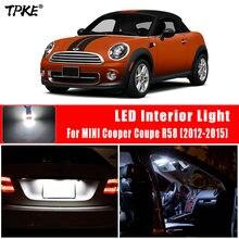 Tpke 13x canbus livre de erros led interior cúpula luz de leitura lâmpada kit para 2012-2015 mini cooper coupe r58 luz da placa de licença