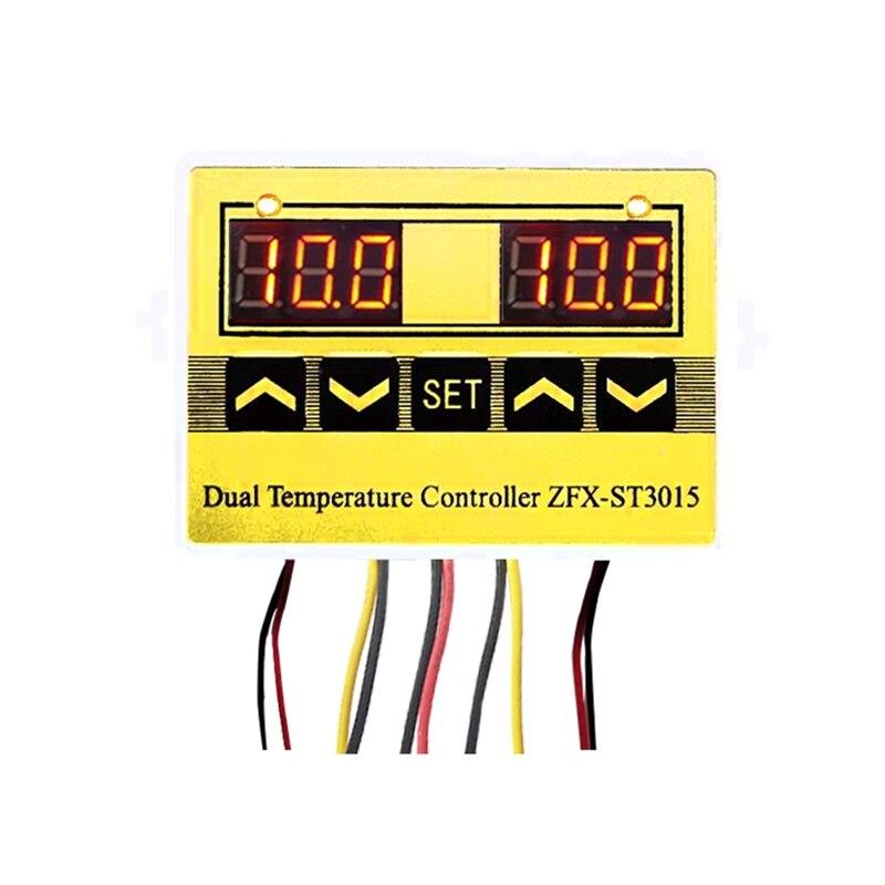 Best ZFX-ST3015 12V 24V 220V LED Microcomputer Digital Display Temperature Controller Thermostat Intelligent Time Controller Adj