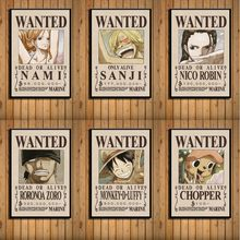 Canvas Pictures Home Decor One Piece Luffy Wanted Poster Classic Japan Anime Fighting Print Living Room Painting Wall Art Poster