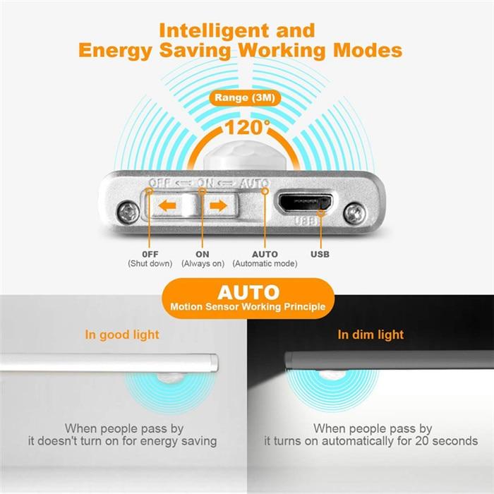 70 LED PIR Motion Sensor Under Cabinet Light 6