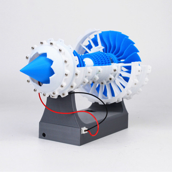 3D Printed Aero Engine Model Turbofan Engine Model DIY Stem Engine Toy With Battery Box - Motor Version