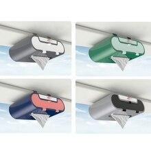 Car Sun Visor Tissue Box Holder Vehicles PU Leather Facial Paper Napkin Cover H3CE