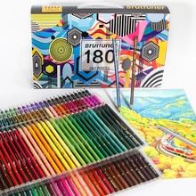 Brutfuner 48/72/120/160/180 Colors Professional Oil Color Pencils Set for School Artistic Color Lead Draw Sketch Art Supplies