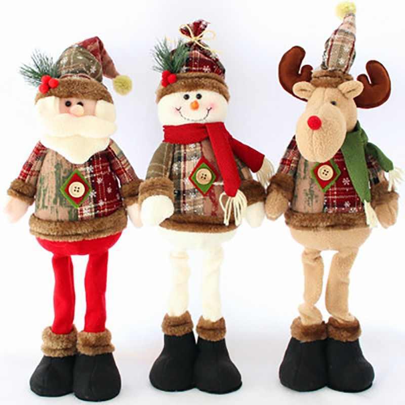 Bonecos decorativos natalinos, bonecos de decoração de natal, papai noel,  elfo, boneco de neve, materiais de decoração de natal, ano novo de 2020| Enfeites p/ árvore de Natal| - AliExpress