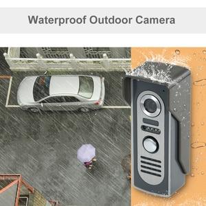 Image 4 - OWSOO 7 inç görüntülü kapı telefonu kapı zili interkom seti 2 kapalı monitör 1 açık kamera Hands free çağrı elektrikli kilit kontrol