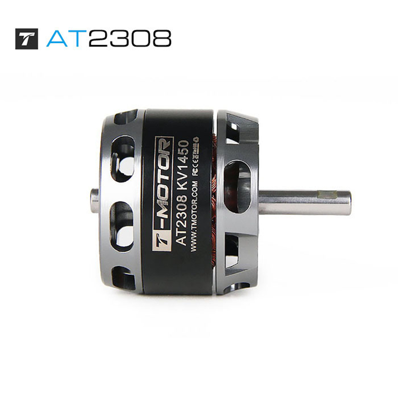 T-Motor Long Shaft <font><b>1450KV</b></font> 2600KV Outer Rotor Brushless Motor AT2308 for FPV racing fixed wing rc drone image