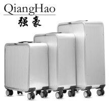 "16""20""24""inch  100% Aluminum alloy  business trip travel malas de viagem com rodinhas trolley suitcase carry on luggage"