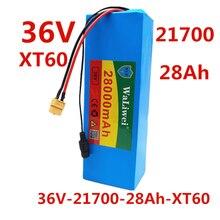 36 В батарея 28 Ач 21700 10S2P Аккумулятор 1000 Вт Батарея высокой мощности для электровелосипеда BMS