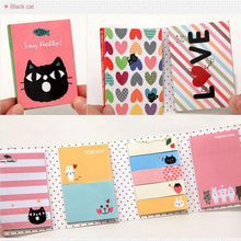 Sticker Mini Animal Sticky Notes 4 Folding Memo Pad Gifts School Stationery Supplies