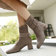 Brown Boots Fashion High Heels Sexy Elegant Ankle For Women Autumn Winter 2019 New Black