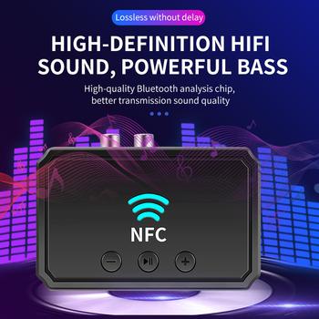 NFC 5 0 kompatybilny odbiornik Bluetooth A2DP AUX 3 5mm złącze RCA USB inteligentne odtwarzanie Audio Adapter bezprzewodowy do zestawu samochodowego głośnik tanie i dobre opinie DigRepair NONE CN (pochodzenie) Brak Podwójne NFC Bluetooth-compatible Receiver dropshipping V5 0 + EDR A2DP AVRCP RCA AUX USB