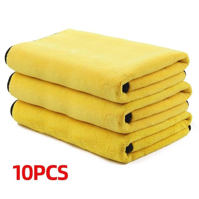 3/5/10 Stuks Extra Zachte Wasstraat Microfiber Handdoek Car Cleaning Drogen Doek Car Care Doek Detaillering Auto Washtowel nooit Scrat