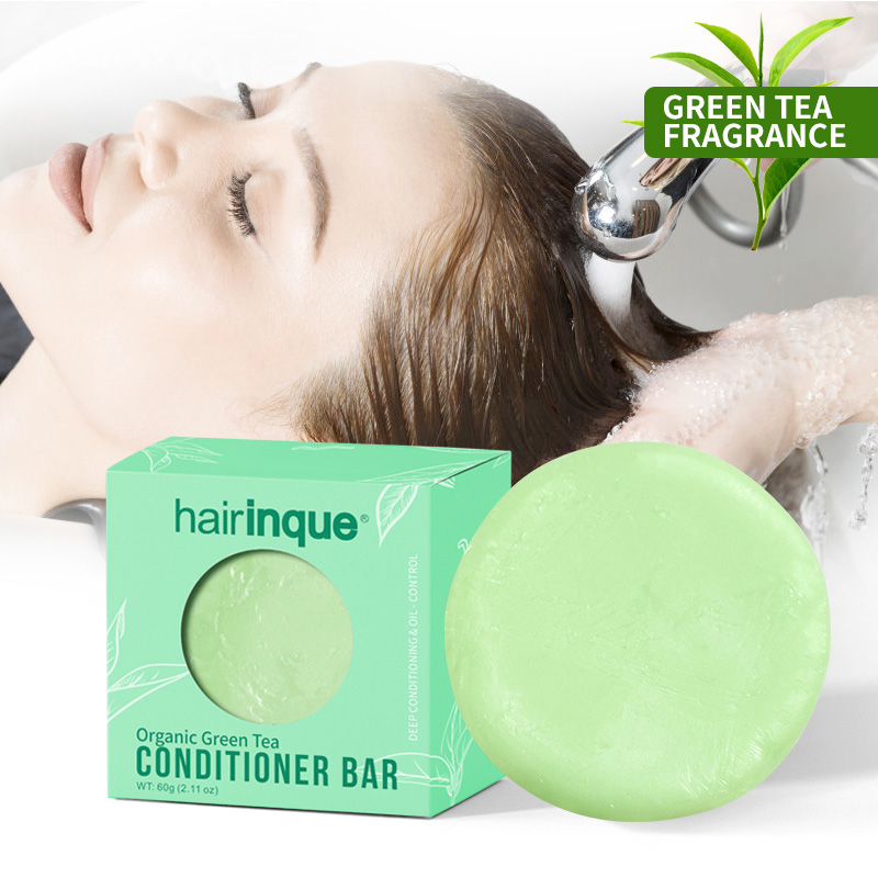 Hairinque Organic Hair Green Tea Conditioner  Vitamin C Moisturizing Nourishing Hair Conditioner Soap Hair Care  New 2019 Sale