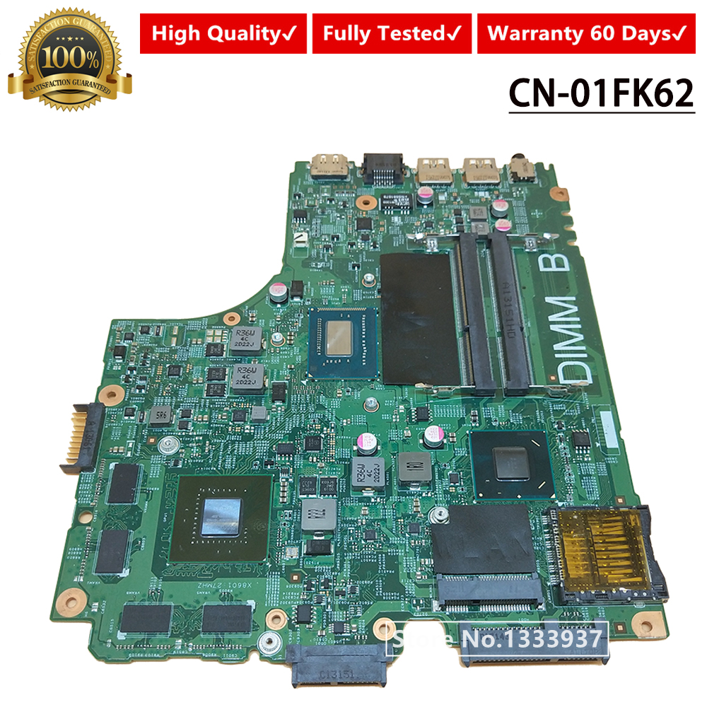 FOR <font><b>DELL</b></font> INSPIRON <font><b>3421</b></font> 5421 laptop motherboard CN-01FK62 01FK62 1FK62 mainboard 12204-1 DNE40-CR PWB:5J8Y4 <font><b>I5</b></font>-3337 image