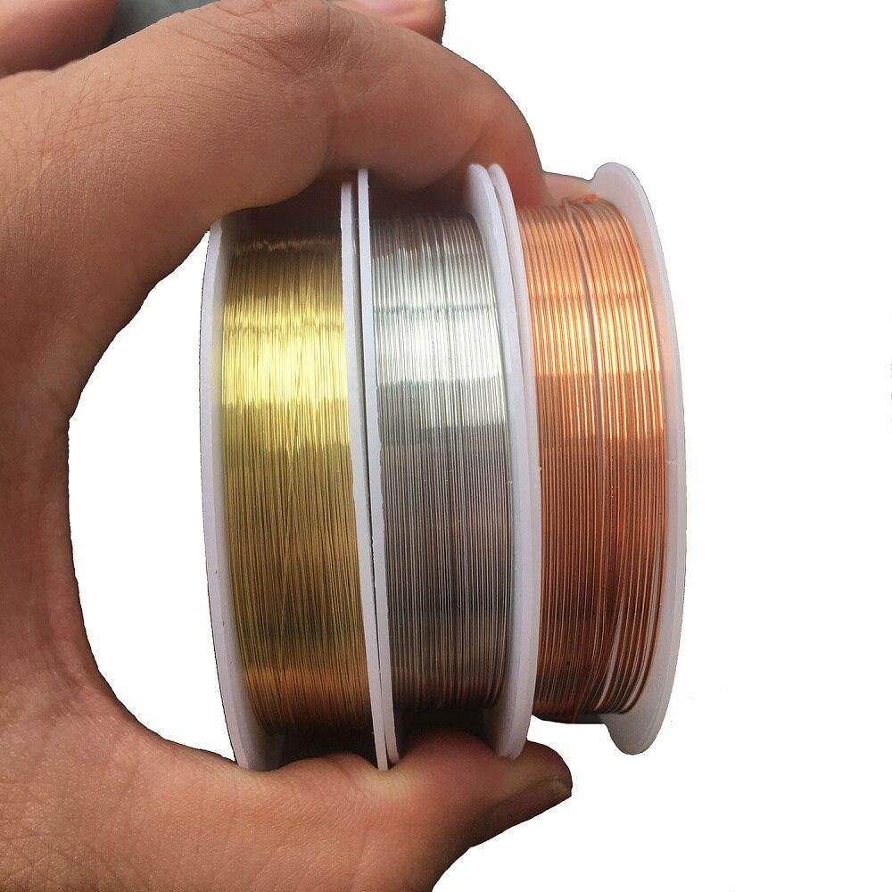 1 rolo de metal fio de cobre para diy artesanato que faz jóias grânulo corda processamento diâmetro 0.2mm 0.3mm 0.4mm 0.5mm 0.6mm 0.8mm 1mm
