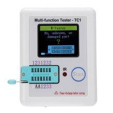Multi-funcional tft retroiluminação transistor, testador para diodo tríodo capacitor resistor transistor conjunto de componente eletrônico