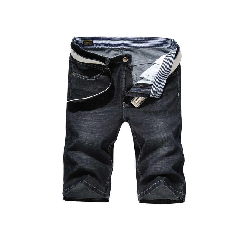 2020 yeni moda erkek yırtık kısa kot pantolon marka giyim Bermuda yaz pamuk şort nefes Denim şort erkek