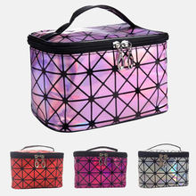 Multifunctional cosmetic bag women leather travel make up necessaries