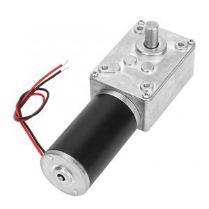 Image 5 - DC 12V Hohe Dreh Geschwindigkeit Reduzieren Elektrische Getriebe Motor Reversible Wurm Getriebe Motor 8mm Welle 10/12 /20/30/50/130/200/400RPM