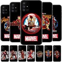 Iron Man Zwarte Telefoon Case Romp Voor Samsung Galaxy A50 A51 A20 A71 A70 A40 A30 A31 A80 E 5G S Zwart Shell Art Mobiele Cove