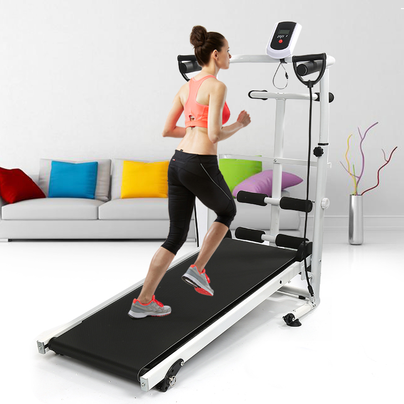 2020 Folding Treadmill Mute Fitness Equipment Wide Run Belt Treadmill 3 In 1 Walking Twisting Waist Machine Home Training HWC