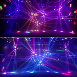 Image 5 - Mini LED Beam 9x10W Spider DMX512 Stage Effect Lighting Good For DJ Disco Party Dance Floor Nightclub And Christmas Decorations