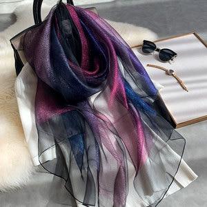 Image 1 - 2020 nowy jedwab szalik wełniany kobiety moda szale i okłady pani podróży Pashmina wysokiej jakości szale zimowe szyi Wram Bandana