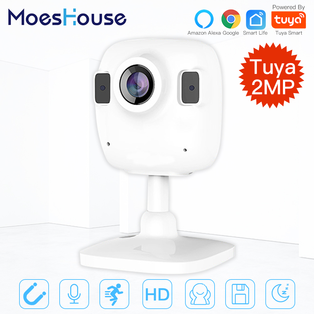 Tuya Smart Life Wireless HD 1080P IP Camera Smart Infrared Two-way Audio Night Vision Work With Alexa Echo Show Google Assistant