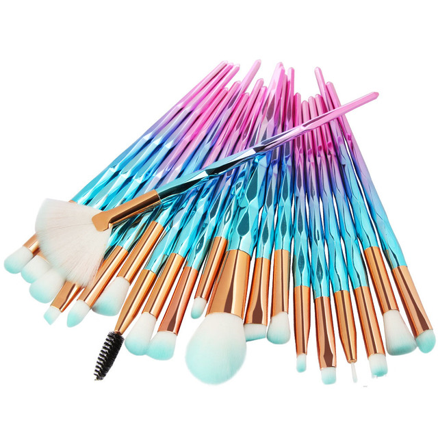 20Pcs Diamond Makeup Brushes Set Powder Foundation Blush Blending Eye shadow Lip Cosmetic Beauty Make Up Brush Pincel Maquiagem 1