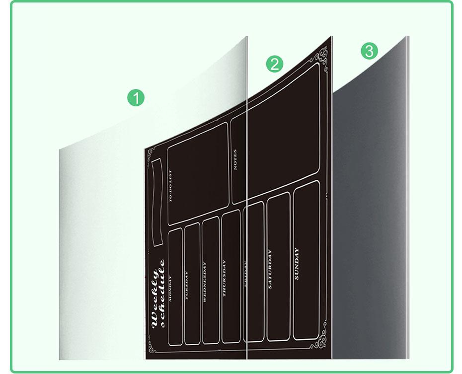 Calendário magnético do quadro-negro para a cozinha
