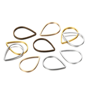 30Pcs/lot Waterdrop Teardrop Jump Rings For DIY Jewelry Making Findings Accessories Supplies Earring Hooks Necklaces Connectors