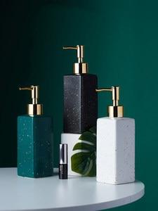 Image 1 - Ceramic Soap Dispenser Hand Sanitizer Bottle Nordic Bathroom Toilet Lotion Bottle Shower Gel Bottle Press Sub bottle Shampoo Bot