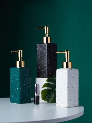 Keramische Zeepdispenser Handdesinfecterend Fles Nordic Badkamer Wc Lotion Fles Douchegel Fles Druk Sub fles Shampoo Bot