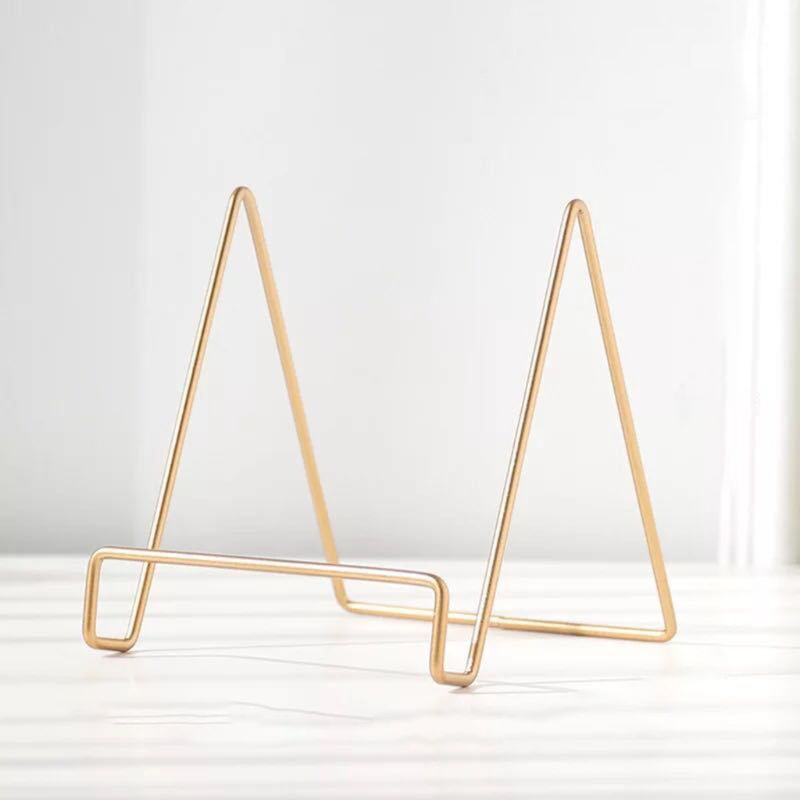 Geometric Desktop Placement Stand Mobile Phone Book Newspaper Collection Storage Rack Magazine Display Holder