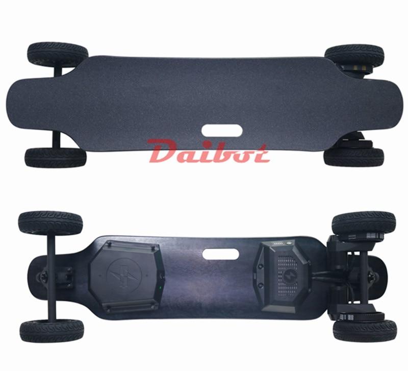 4 roues électrique planche à roulettes Scooter Offroad double moteur électrique Scooters Eectric Longboard planche à roulettes pour adultes double usage