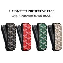Couro caso de proteção para iqos3.0 cigarro eletrônico acessórios negócio elegante grande y especial saco capa para o homem mulher bf