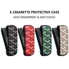 Leder Schutzhülle für IQOS 3,0 Elektronische Zigarette Zubehör Business Elegante Große Y spezielle Abdeckung Tasche für mann frau BF