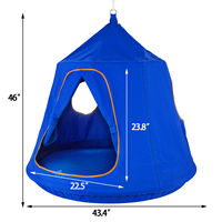 Garden hammock 220 lbs. Load bearing sturdy and reliable children blue pod swing chair tent indoor and outdoor