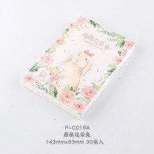 Envelope Gift-Card Rabbit Tea Letter 30-Sheets/Set Message-Card/birthday Cute