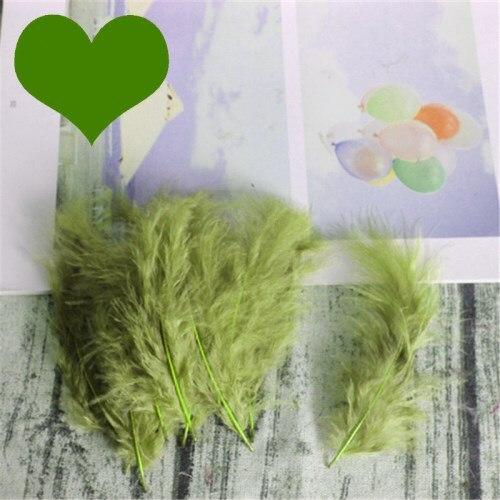 Натуральные Шлейфы 50 шт. 4-6 дюймов 10-15 см индейка перья марабу шлейф пышное свадебное платье DIY украшения аксессуары перья - Цвет: Army green