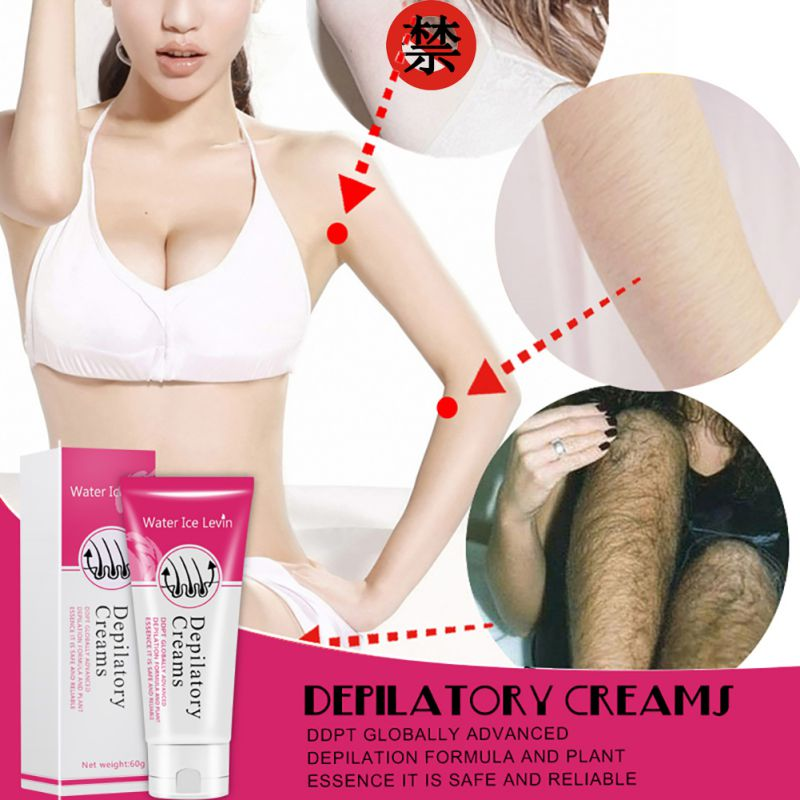 Water Ice Levin Painless Depilatory Cream Legs Depilation Cream Hair Removal Armpit Hair Remove Cream