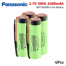 Panasonic 1/2/4/6/8/10x Rechargeable 3.7v NCR18650B Battery 20A 3400mAh Lithium Li Ion NCR 18650B Batteries Pilas With Wires