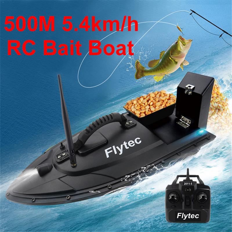 Fishing Tool Smart Bait RC Boat toys Dual Motor Fish Finder Remote Control Fishing Boat 500m Fishing Boats LED Attracting Fish image