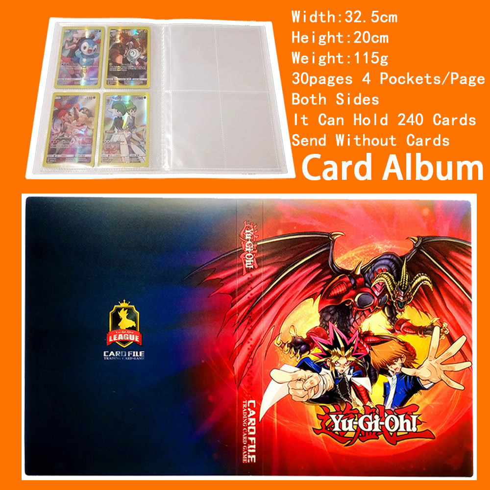 Kids Card Pocket Holder Binders Albums Magic Yugioh Colletor 240 Cards Capacity