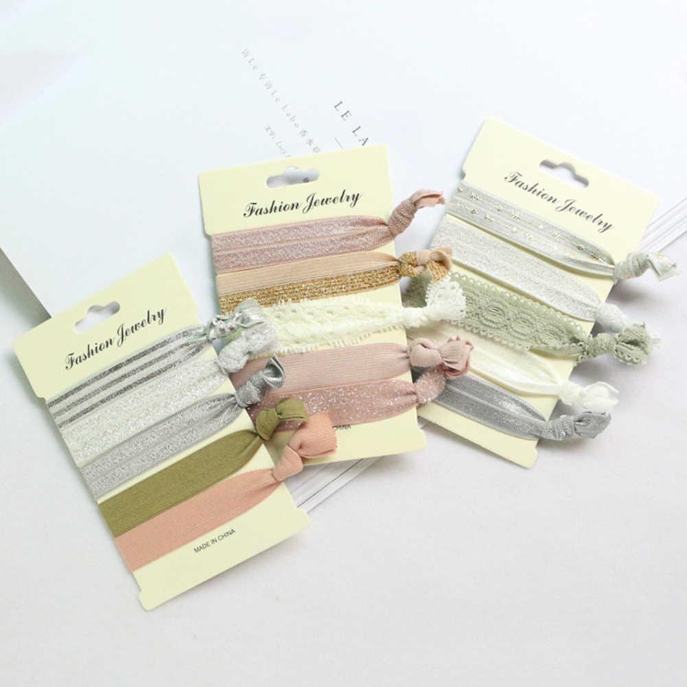 Mode Bloem Print Elastische Haarbanden Yoga Haar Ring Haaraccessoires Vrouwen En Meisjes Hoofdtooi Hoofddeksels Armband Haar Banden