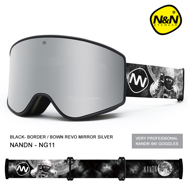 NANDN Ski Goggles Double Layers UV400 Anti-fog Big Ski Mask Glasses Skiing Snow Men Women Snowboard Goggles